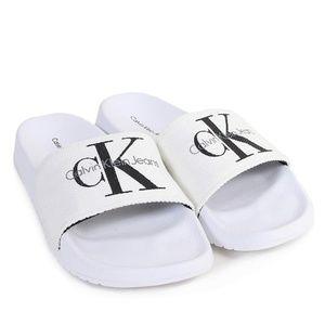 New White Ladies Calvin Klein Canvas Sandals
